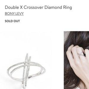 Bony Levy double crossover diamond ring